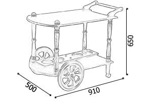 Сервировочный столик на колесах своими руками чертежи